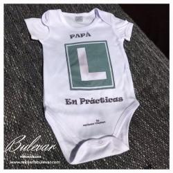 """Body para Bebes """"Papá en..."""